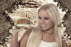 Eet vlees Royalty-vrije Stock Foto