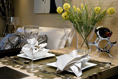 Eettafel Royalty-vrije Stock Foto's