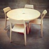 Eettafel en stoelen, modern ontwerp Stock Foto's