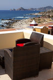 Eettafels met een grote mening van Cabo San Lucas Stock Fotografie