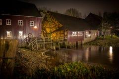 Eeuwen Oude Watermill stock foto's