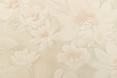 Eeuwenoud behang als achtergrond van bloemen Stock Afbeelding