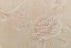 Eeuwenoud behang als achtergrond van bloemen Stock Foto's