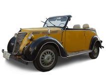 Eeuwenoude gele auto Royalty-vrije Stock Afbeeldingen