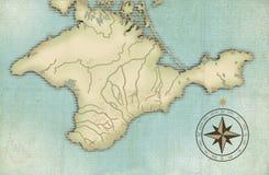 Eeuwenoude kaart van de Krim Stock Illustratie