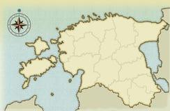 Eeuwenoude kaart van Estland Royalty-vrije Illustratie