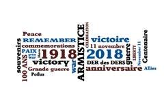 Eeuwfeest van de wapenstilstand van 1918 Royalty-vrije Stock Foto's
