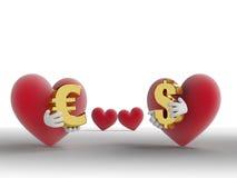 Eeuwig Alternatief: Liefde voor Geld of Liefde voor Lo royalty-vrije illustratie