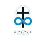 Eeuwig Christian Belief in Gods vector creatief symbool desig royalty-vrije illustratie