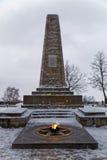 Eeuwige vlam en Obelisk Royalty-vrije Stock Afbeeldingen