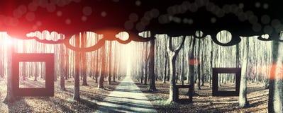 Eeuwigheid, conceptuele achtergrond stock illustratie