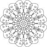 Eeuwigheid het toenemen bloemmandala royalty-vrije illustratie
