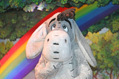 Eeyore from Winnie the Pooh. MARNE-LA-VALLEE, FRANCE - August 23, 2006 - Eeyore in the Winnie the Pooh and Friends, too! show in Fantasyland in Disneyland Resort Royalty Free Stock Images