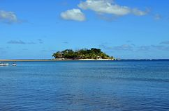 Efate för gömställeö nästan ö, Vanuatu Fotografering för Bildbyråer