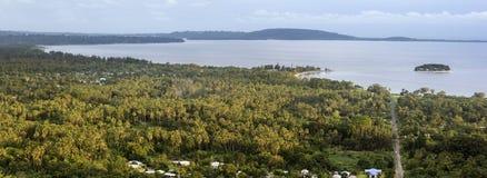 Efate, Vanuatu - panorama da tarde imagem de stock royalty free