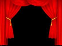 Efectúe las cortinas stock de ilustración