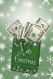 Efectivo de la Navidad Foto de archivo libre de regalías