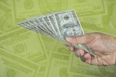 Efectivo de la paga Concepto del efectivo solamente Foto de archivo libre de regalías