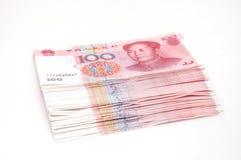 Efectivo de la pila RMB Fotos de archivo libres de regalías