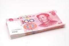 Efectivo de la pila RMB Foto de archivo libre de regalías