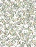 Efectivo del dinero y fondo de las monedas Foto de archivo libre de regalías