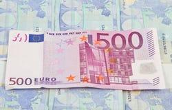 Efectivo del euro 500 Imágenes de archivo libres de regalías