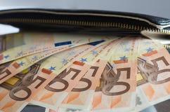 Efectivo, euro imágenes de archivo libres de regalías