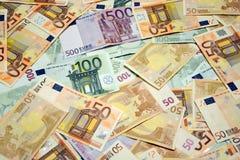 Efectivo euro Fotografía de archivo libre de regalías