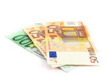 Efectivo euro del dinero Imagen de archivo libre de regalías