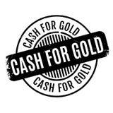Efectivo para el sello de goma del oro foto de archivo