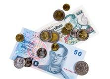 Efectivo tailandés del dinero en circulación Fotografía de archivo libre de regalías