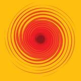 Efecto óptico, giro rojo Imágenes de archivo libres de regalías