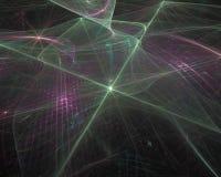 Efecto abstracto de la elegancia del remolino de la onda del color del fractal, ornamento vibrante decorativo del dise?o ilustración del vector