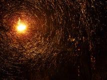Efecto abstracto de la luz en la lluvia Imágenes de archivo libres de regalías