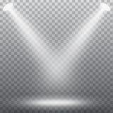 Efecto abstracto del proyector stock de ilustración