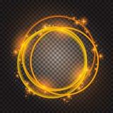 Efecto ardiente del círculo aislado Vector de la bengala Palo redondo mágico ilustración del vector