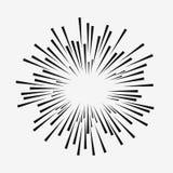 Efecto cómico de la explosión Líneas móviles radiales Elemento del resplandor solar Rayos de Sun Vector stock de ilustración