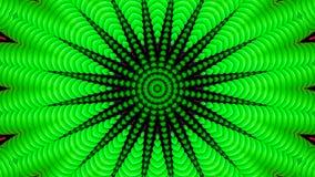 Efecto caleidoscópico de tubos verdes fotos de archivo libres de regalías