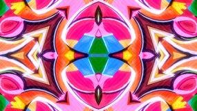 Efecto caleidoscópico de una pintada colorida stock de ilustración