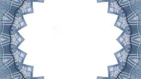Efecto caleidoscópico sobre un fondo blanco ilustración del vector