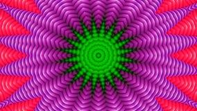 Efecto caleidosc?pico de tubos verdes ilustración del vector