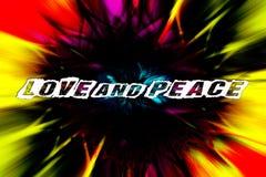 Efecto colorido 4000 del giro de la cita del texto del amor y de la paz con 6000 impresiones de la fotografía digital de la bella stock de ilustración