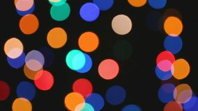 Efecto de Bokeh de las luces del color almacen de metraje de vídeo