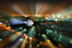 Efecto de Boken, luces borrosas del paisaje urbano de la noche Fotografía de archivo libre de regalías
