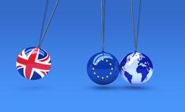 Efecto de Brexit y concepto de las consecuencias Imagen de archivo