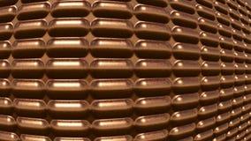 Efecto de cobre futurista moderno del ojo de pescados del fondo imagen de archivo libre de regalías