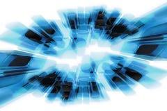 Efecto de cristal abstracto del movimiento Imagen de archivo libre de regalías