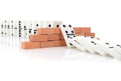 Efecto de dominó Imágenes de archivo libres de regalías