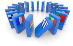 Efecto de dominó del Eu stock de ilustración