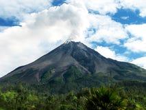 Efecto de la erupción del volcán Foto de archivo libre de regalías